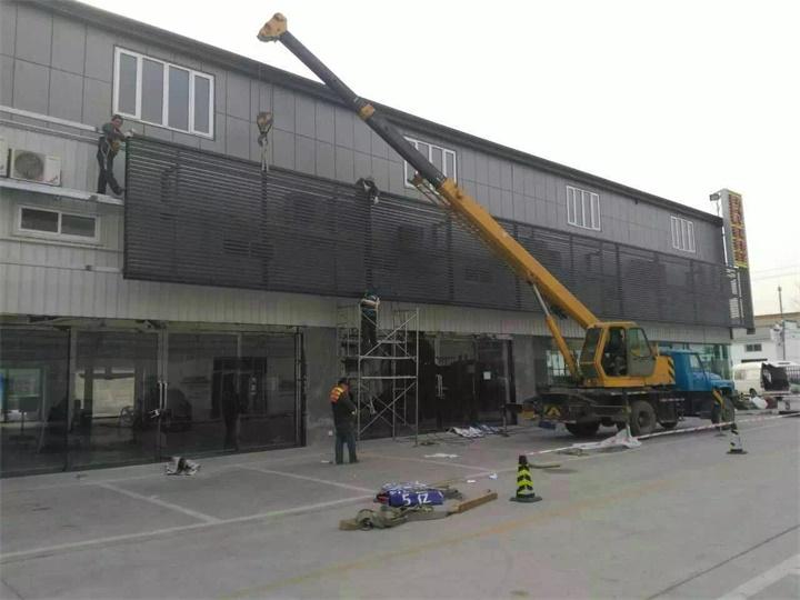 连锁店铁艺广告牌